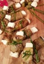 Auberginer med feta ost